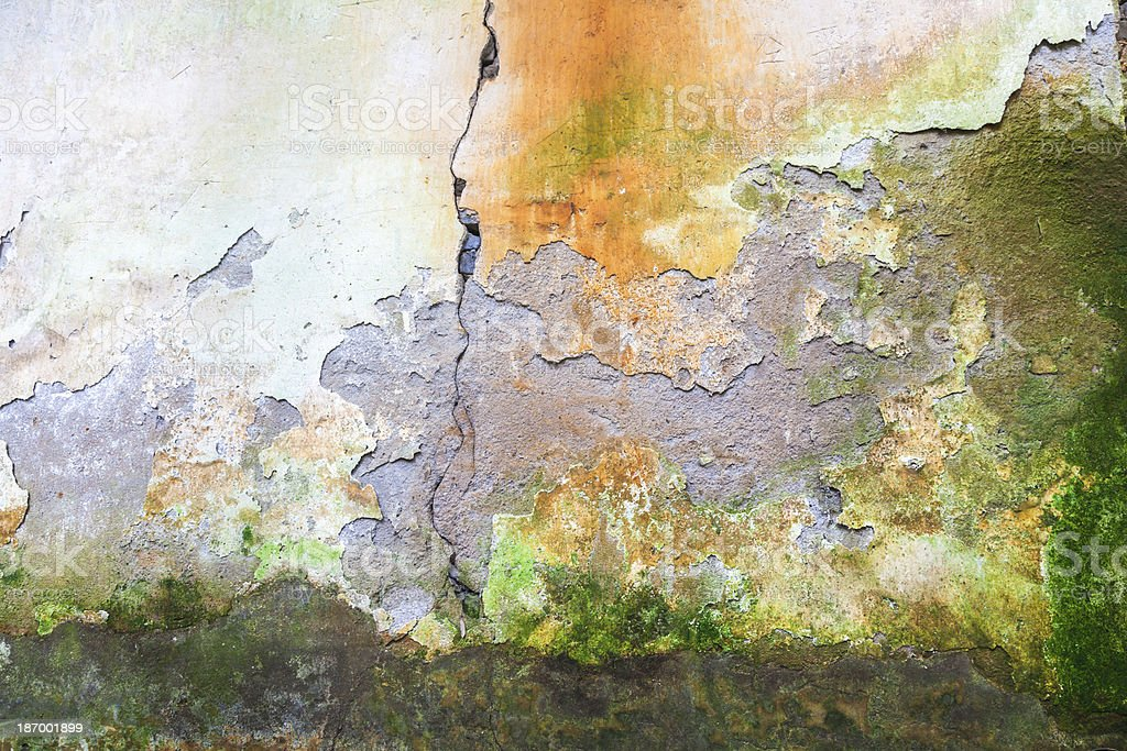 aged mud wall royalty-free stock photo