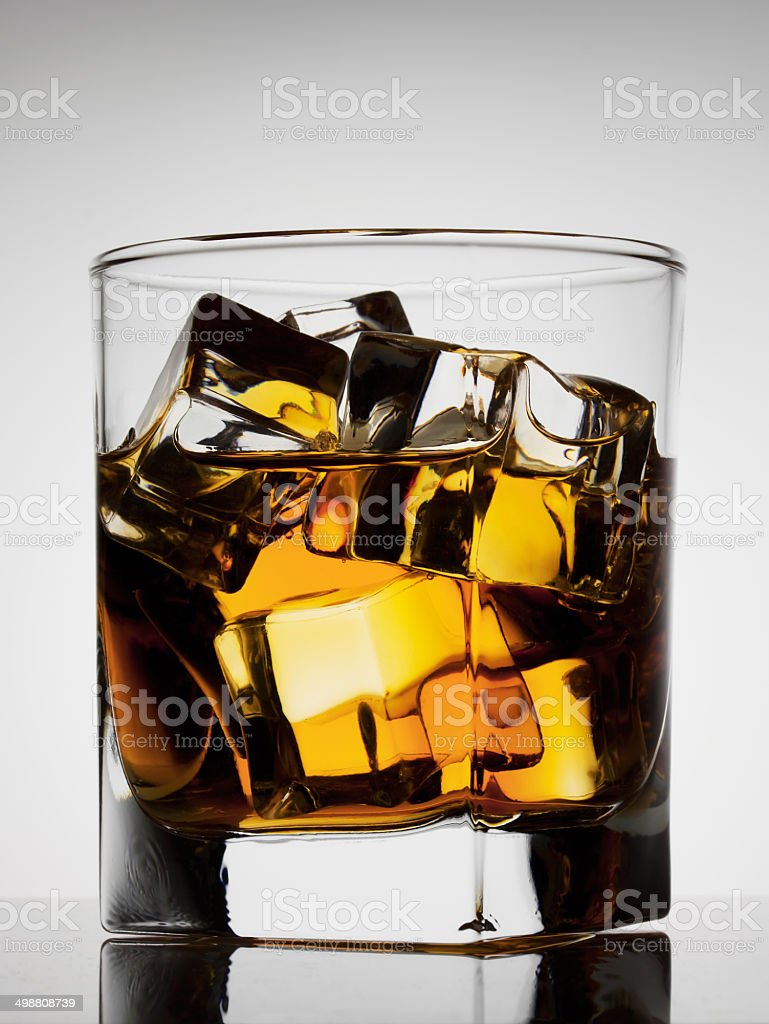 Aged noble glass of whiskey royalty-free stock photo