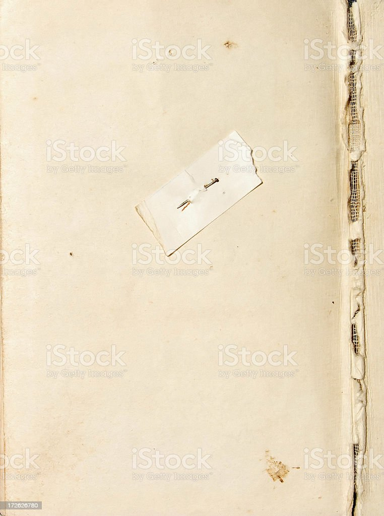 aged note page from very old hymn book royalty-free stock photo