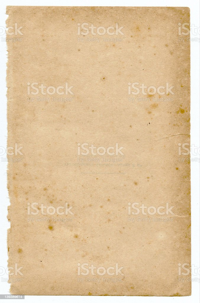 aged, old, vintage paper royalty-free stock photo