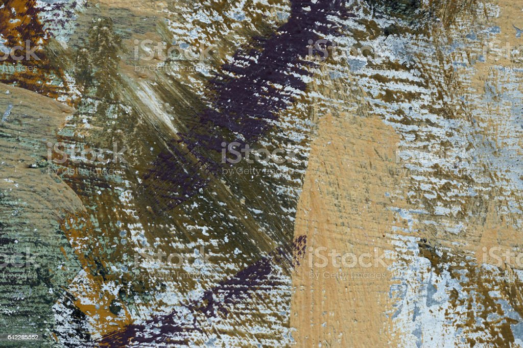 Aged paint on grunge dirty metal surface Abstract texture background stock photo