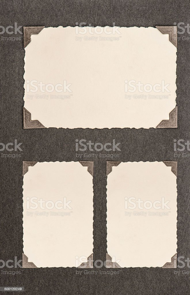 aged paper cardboard with corner stock photo