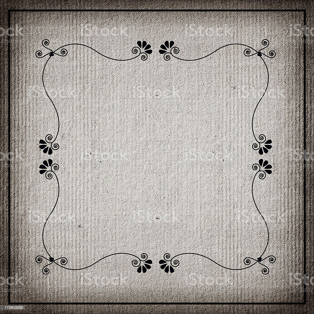 Aged paper with ornate border. royalty-free stock photo