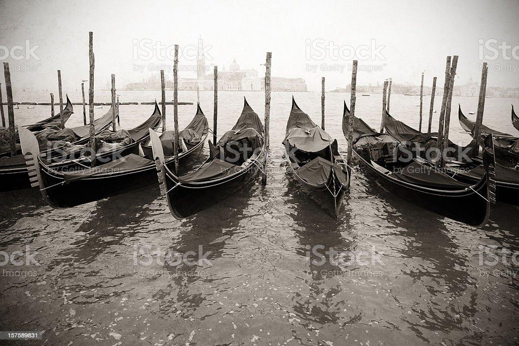 Aged photo of Venice royalty-free stock photo