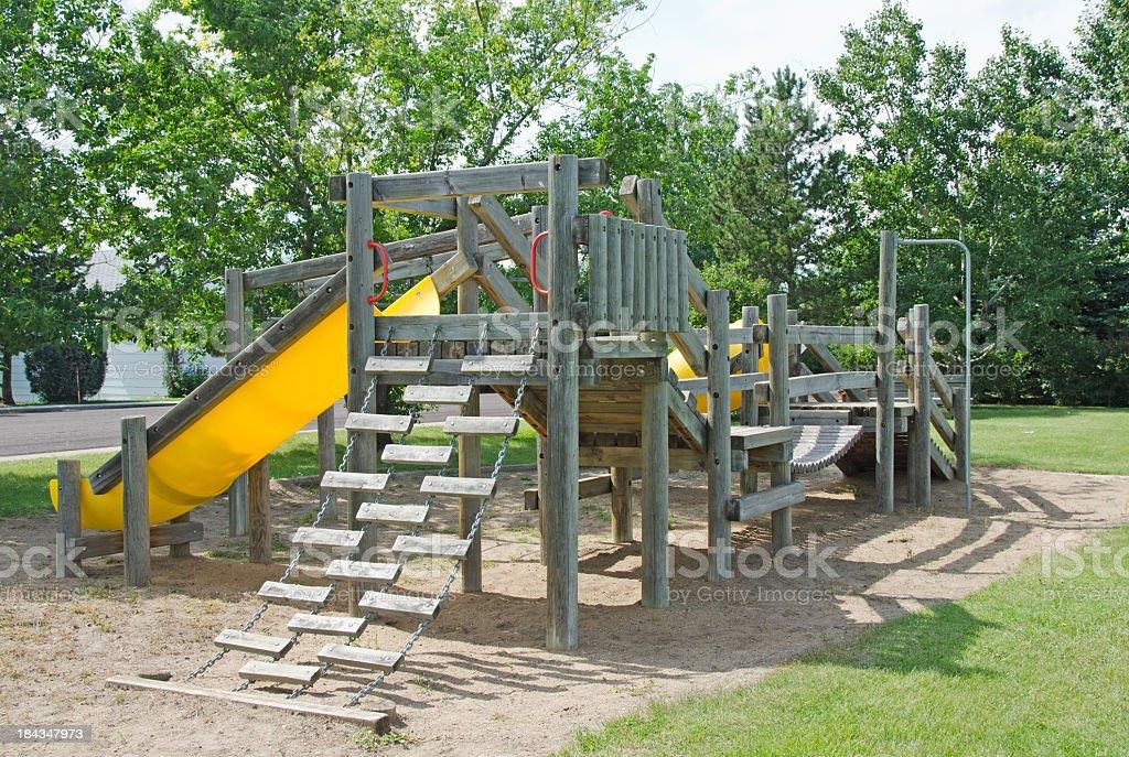 Aged Playground Equipment stock photo