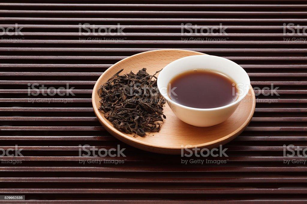Aged Pu'er tea stock photo