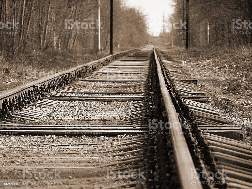 Aged Railroad stock photo