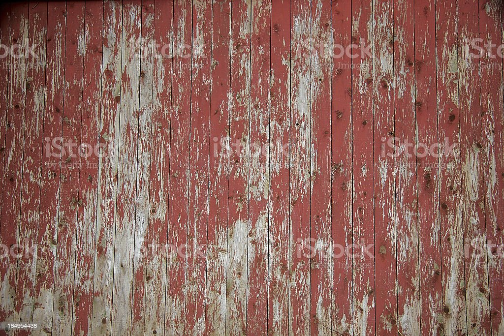Aged Red Fence stock photo