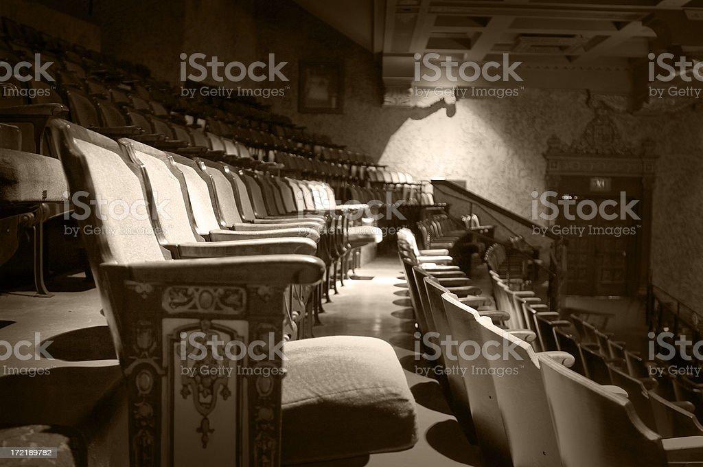 aged seats stock photo