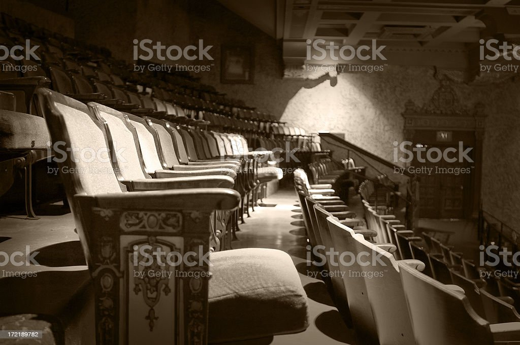 aged seats stock photo