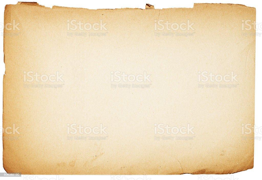 aged sheet stock photo