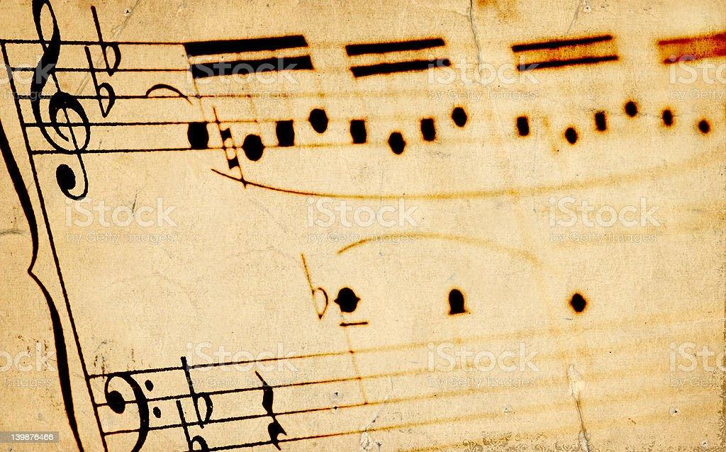 Aged Sheetmusic royalty-free stock photo