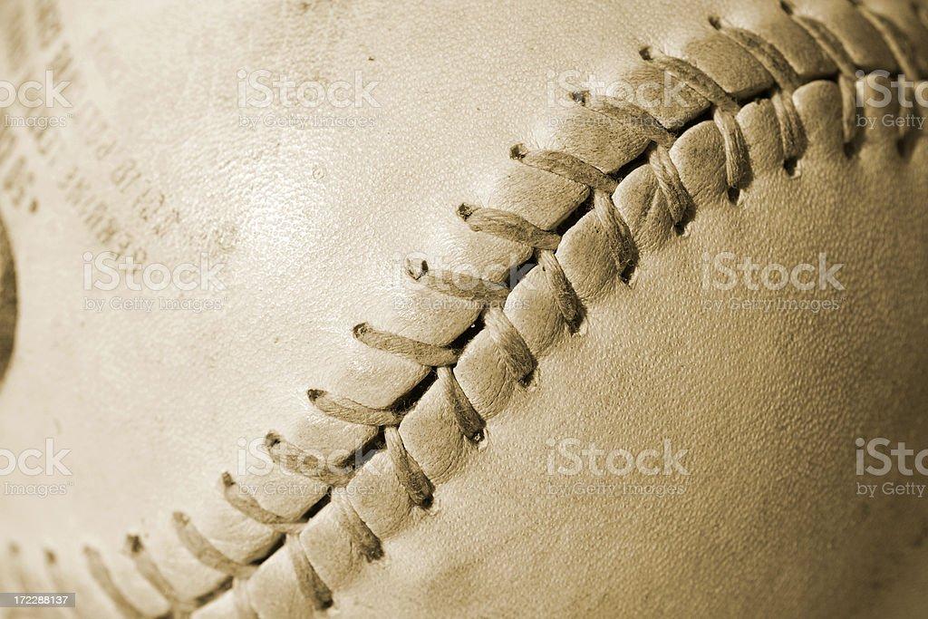Aged softball/baseball royalty-free stock photo