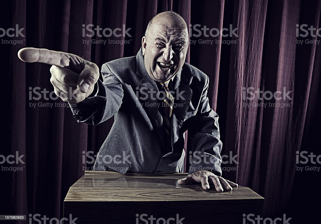 Aged Speaker royalty-free stock photo