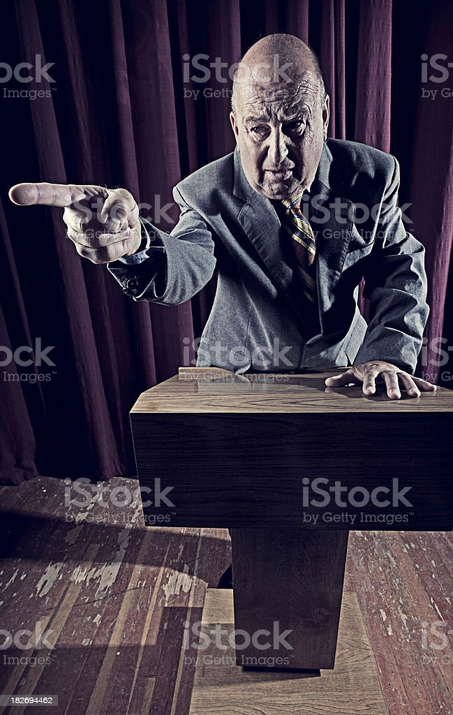Aged Speaker royalty-free stock photo