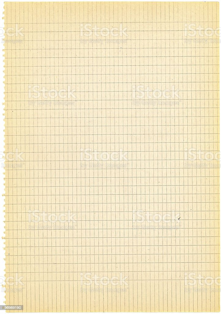 Aged squared paper royalty-free stock photo