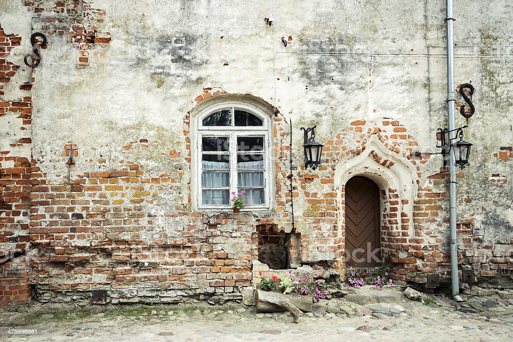 Aged street wall royalty-free stock photo