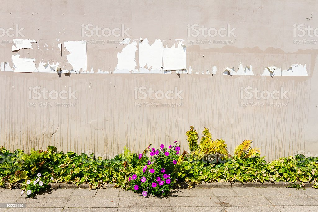 Aged street wall stock photo