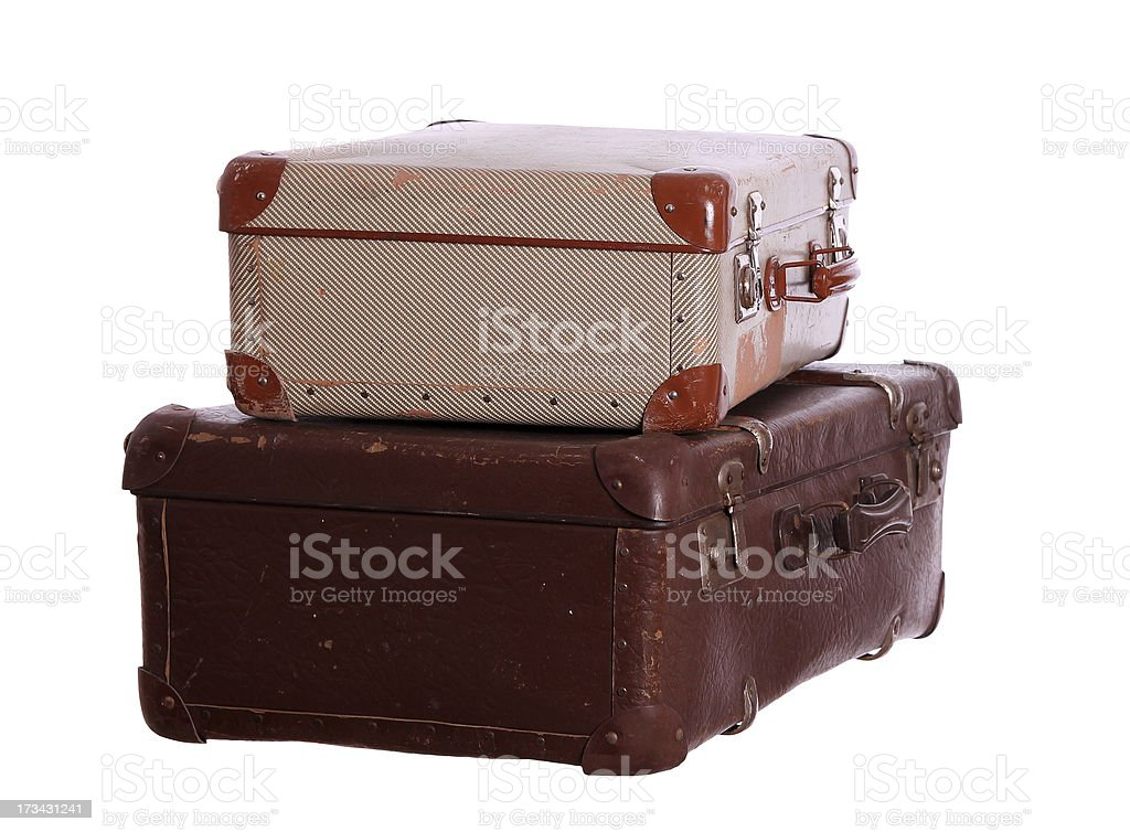 aged suitcases royalty-free stock photo