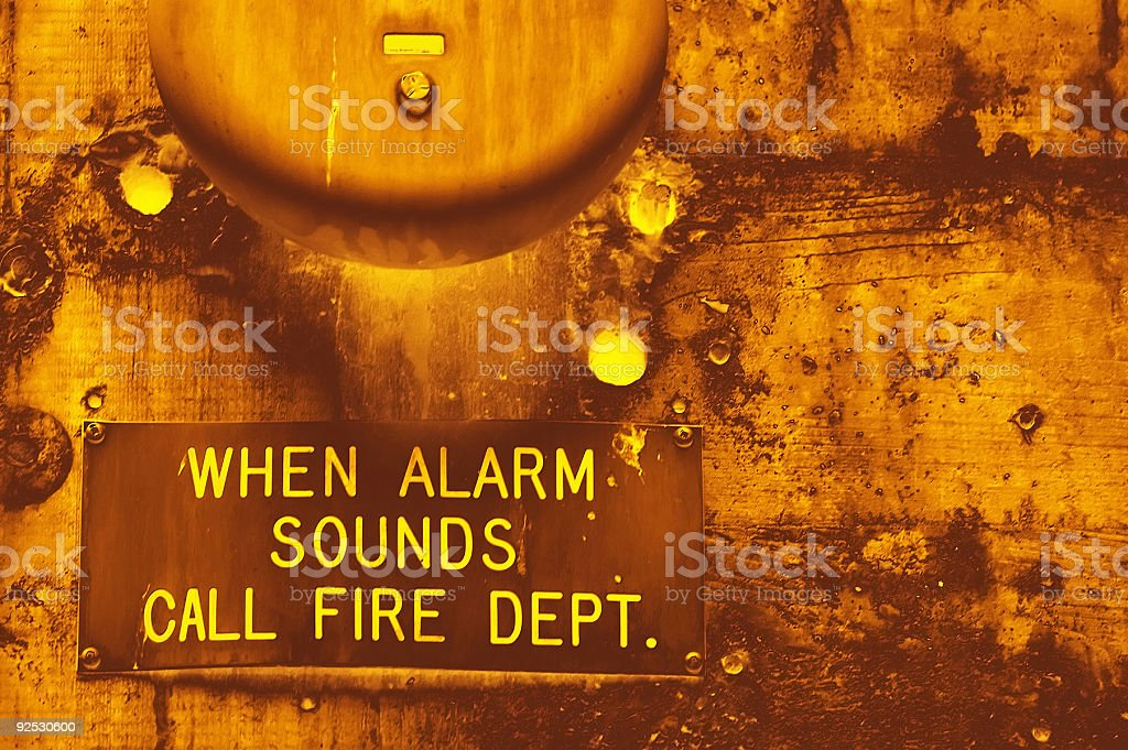 Aged Texture - Fire Alarm royalty-free stock photo