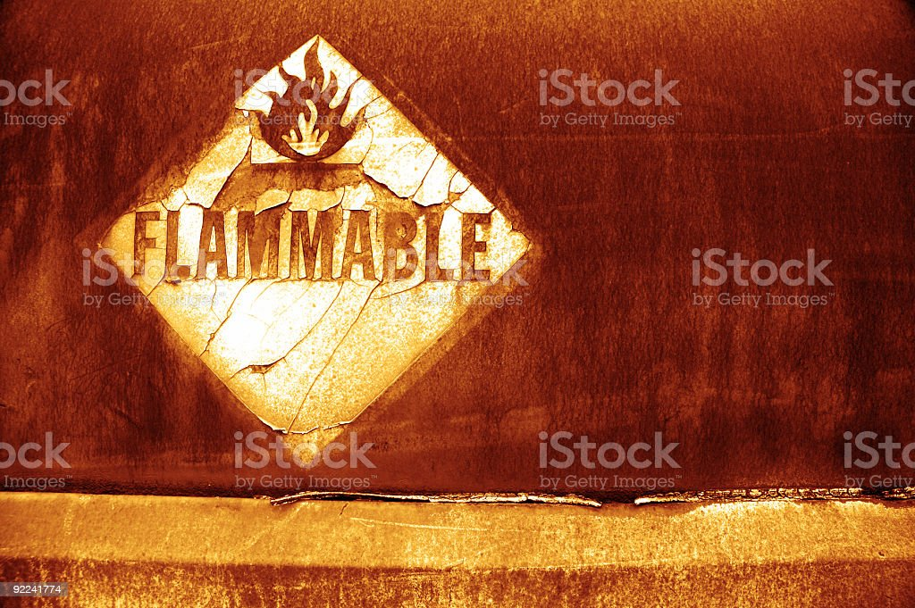 Aged Texture - Flammable 4 royalty-free stock photo