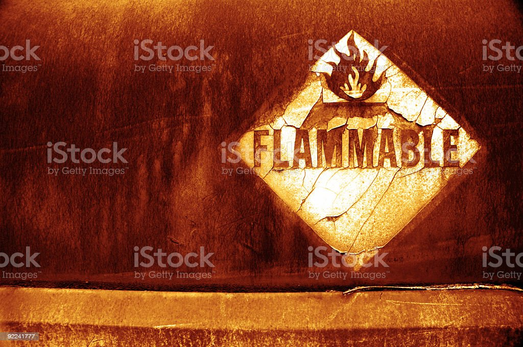 Aged Texture - Flammable 5 royalty-free stock photo