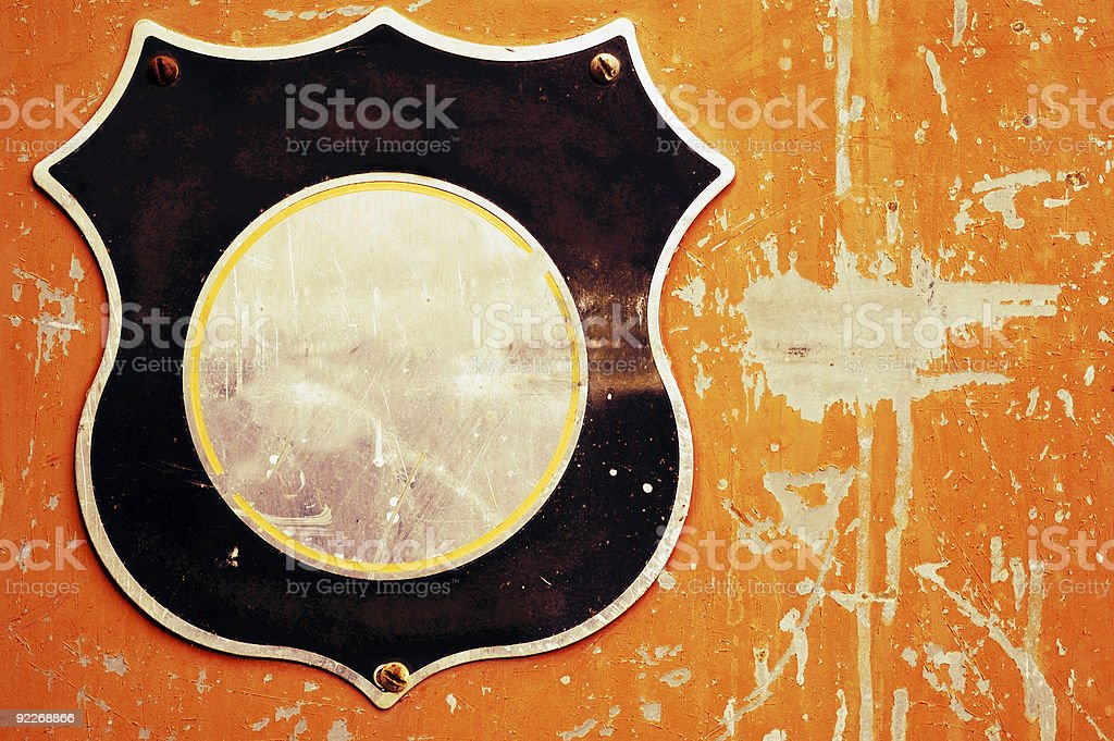Aged Texture - Ready for your Logo royalty-free stock photo