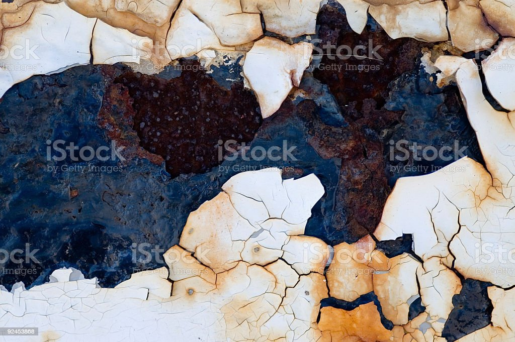 Aged Texture - Rusty Peeling Paint royalty-free stock photo
