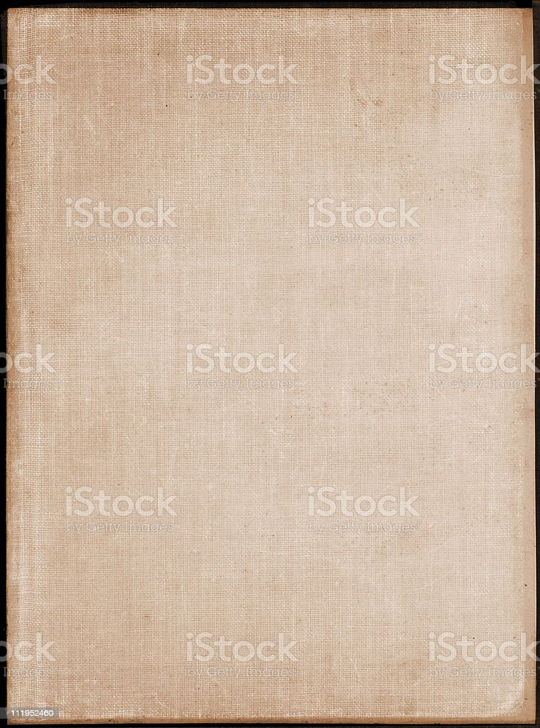 Aged textured book cover royalty-free stock photo