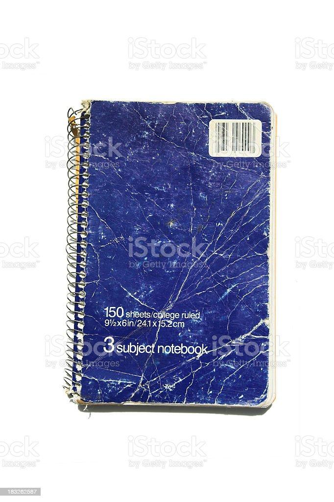 Aged Three Subject Notebook stock photo