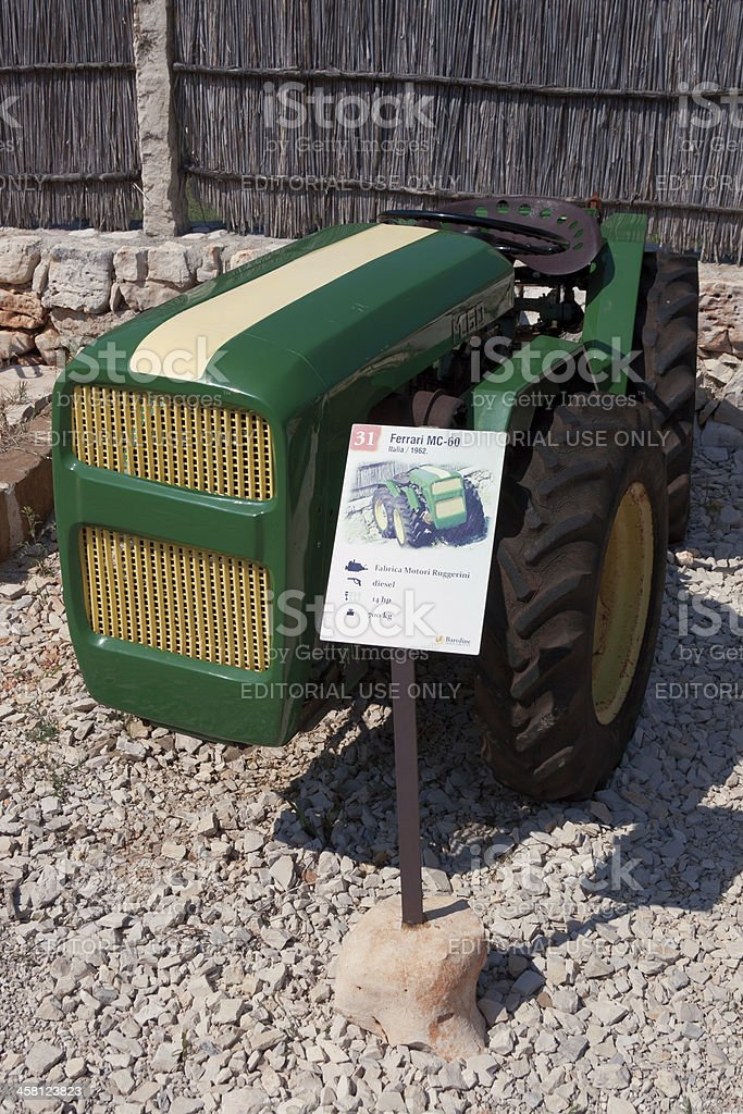 Aged tractor royalty-free stock photo