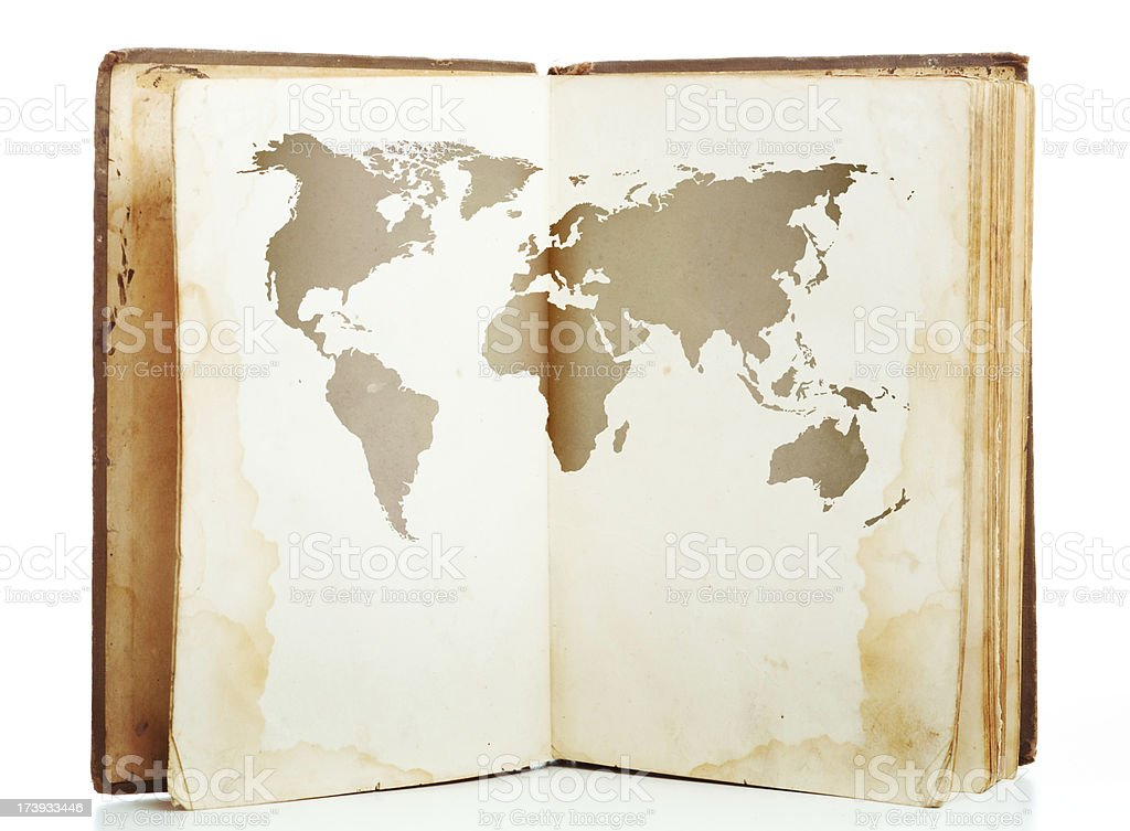 Aged travel book royalty-free stock photo