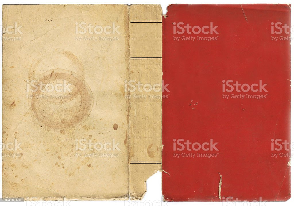 Aged Vintage Book Cover stock photo