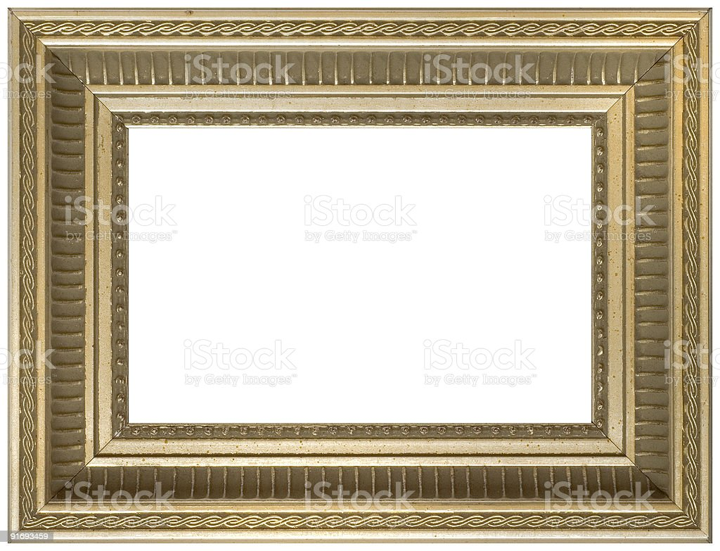 aged vintage gold picture frame royalty-free stock photo