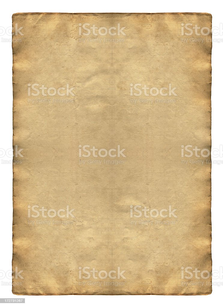 Aged Vintage Paper XXL royalty-free stock photo
