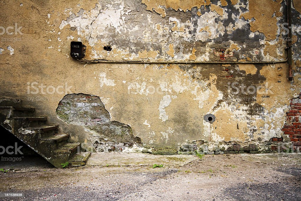 Aged wall background royalty-free stock photo
