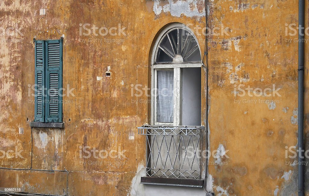 Aged Windows royalty-free stock photo