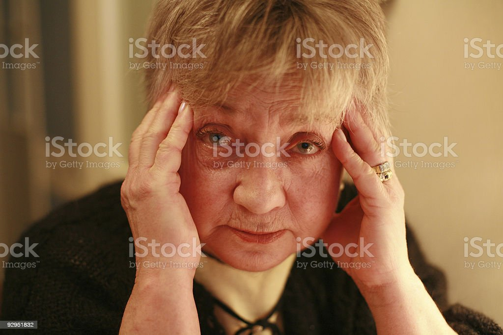 aged woman portrait royalty-free stock photo