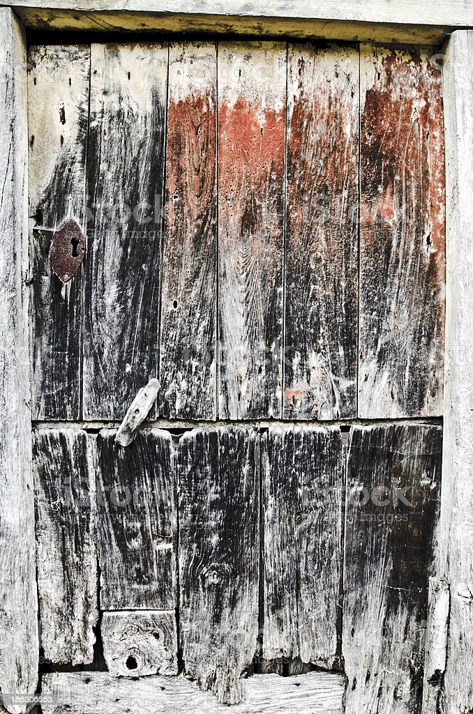aged wooden door royalty-free stock photo