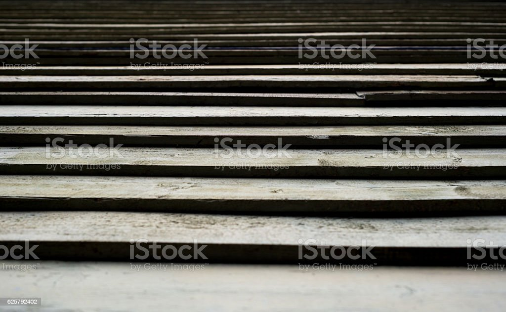 Aged Wooden Louvers or Slats stock photo