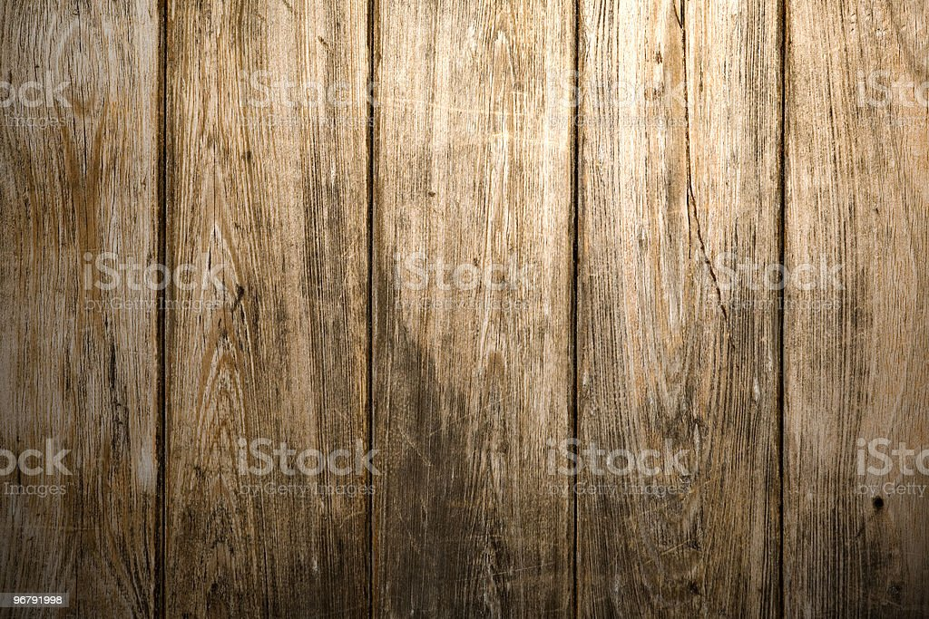 Aged Wooden Wall royalty-free stock photo