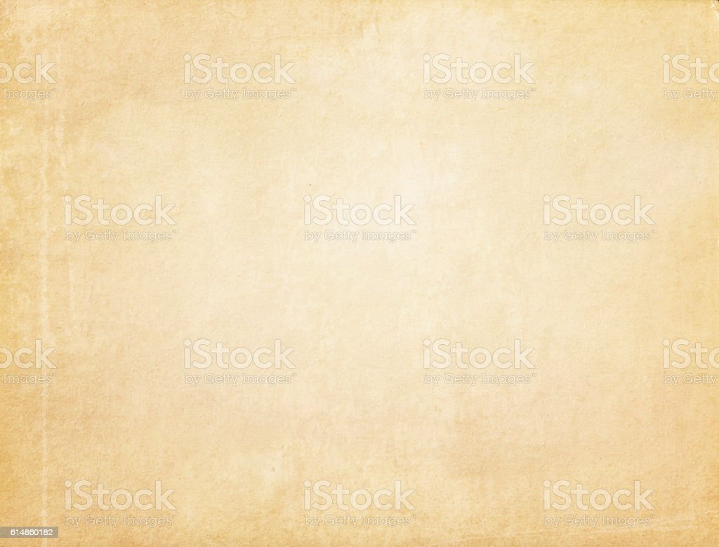 Aged yellowed paper texture. stock photo