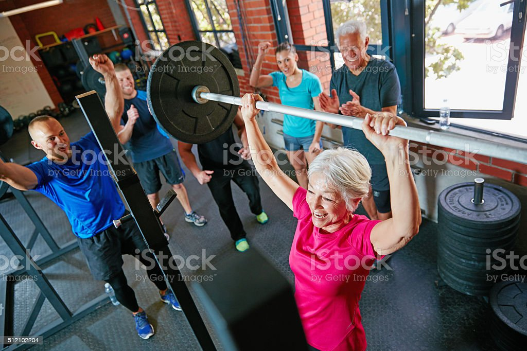 Ageing is a new stage of opportunity and strength stock photo