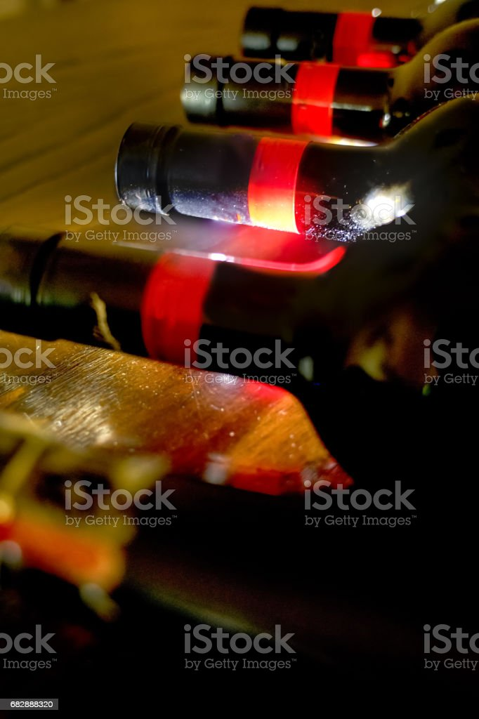 ageing of red wine stock photo