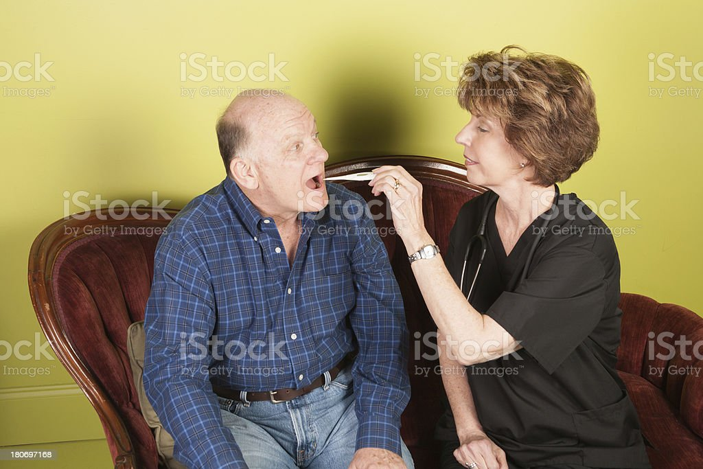 Ageism Home Healthcare royalty-free stock photo
