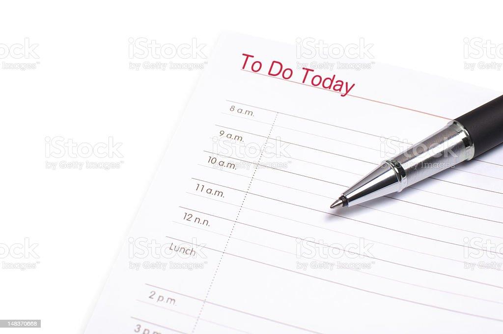 Agenda and pen royalty-free stock photo