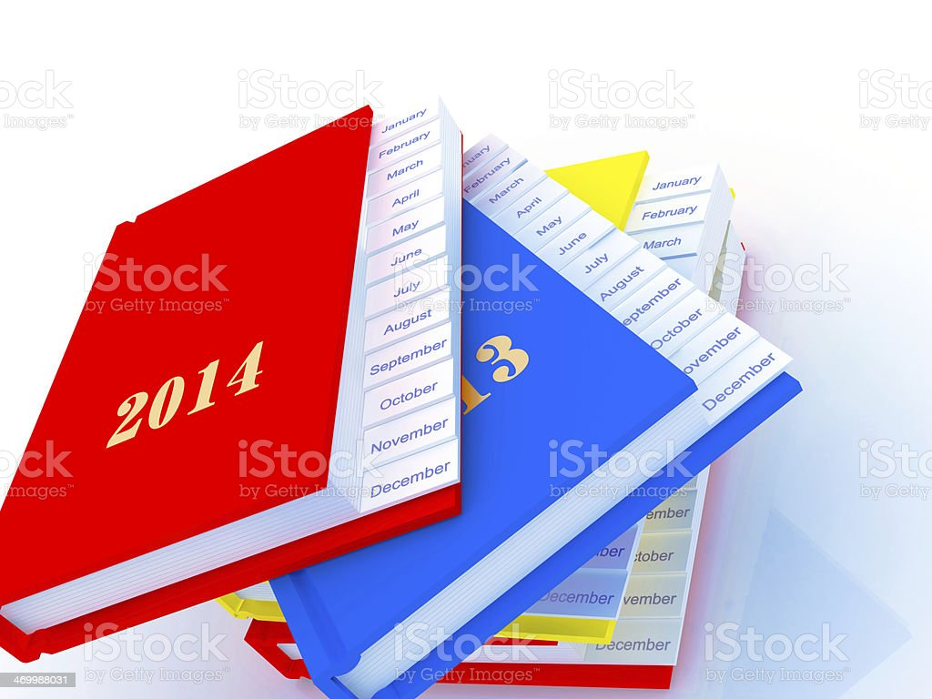 Agenda and Planner stock photo