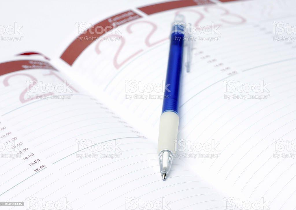 Agenda Closeup stock photo