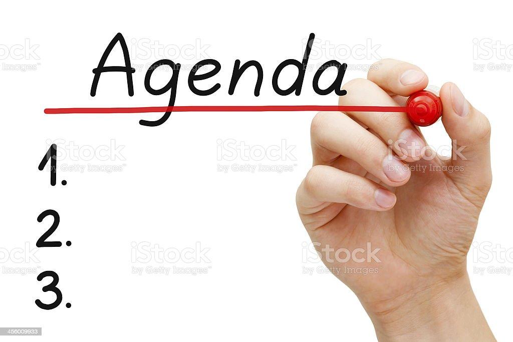 Agenda Concept stock photo