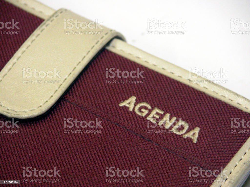 Agenda detail (Close-Up) stock photo